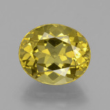 thumb image of 4.7ct Oval Facet Golden Yellow Apatite (ID: 398359)