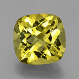 thumb image of 7.8ct Cushion-Cut Golden Green Apatite (ID: 398361)