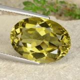 thumb image of 15.7ct Oval Facet Greenish Golden Apatite (ID: 398364)