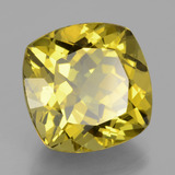17.76 ct Cushion-Cut Brownish Yellow Apatite Gem 16.13 mm x 16 mm (Photo B)