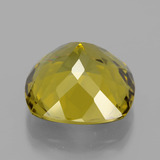 17.76 ct Cushion-Cut Brownish Yellow Apatite Gem 16.13 mm x 16 mm (Photo C)