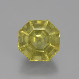 thumb image of 4.7ct Asscher Cut Golden Green Apatite (ID: 399660)