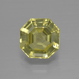 thumb image of 3.2ct Asscher Cut Golden Green Apatite (ID: 399840)