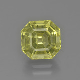 thumb image of 3.2ct Asscher Cut Golden Green Apatite (ID: 399845)