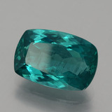 6.73 ct Kissenschliff Dark Green Blue Apatit Edelstein 14.04 mm x 9.5 mm (Photo B)