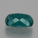 6.73 ct Kissenschliff Dark Green Blue Apatit Edelstein 14.04 mm x 9.5 mm (Photo C)