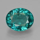 thumb image of 5.9ct Oval Facet Blue Green Apatite (ID: 405949)