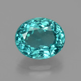 thumb image of 4.3ct Oval Facet Green Blue Apatite (ID: 405964)