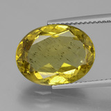 thumb image of 7.3ct Oval Facet Green Yellow Apatite (ID: 407292)