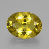 thumb image of 8.2ct Oval Facet Autumn Yellow Apatite (ID: 407296)