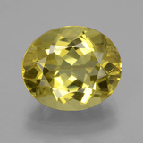 thumb image of 9ct Oval Facet Greenish Golden Apatite (ID: 407375)