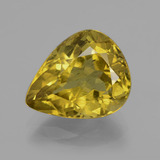 thumb image of 7.6ct Pear Facet Golden Yellow Apatite (ID: 407376)