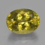 thumb image of 11.5ct Oval Facet Greenish Golden Apatite (ID: 407382)