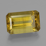 thumb image of 12.7ct Octagon Facet Greenish Golden Apatite (ID: 407384)