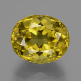 thumb image of 14.9ct Oval Facet Greenish Golden Apatite (ID: 407385)