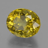 14.93 ct 椭圆形切面 Dijon Yellow 磷灰石 Gem 16.19 mm x 13.4 mm (Photo B)