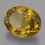 23.25 ct Oval Facet Earthy Yellow Apatite Gem 20.54 mm x 16.6 mm (Photo B)