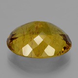 23.25 ct Oval Facet Earthy Yellow Apatite Gem 20.54 mm x 16.6 mm (Photo C)