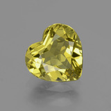 thumb image of 3.2ct Heart Facet Golden Green Apatite (ID: 407507)