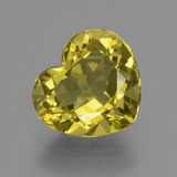 thumb image of 5ct Heart Facet Greenish Golden Apatite (ID: 407510)