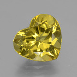 thumb image of 5ct Heart Facet Greenish Golden Apatite (ID: 407512)