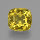 thumb image of 5.8ct Cushion-Cut Golden Green Apatite (ID: 407514)