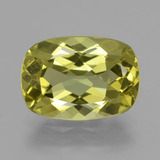thumb image of 5.6ct Cushion-Cut Golden Green Apatite (ID: 407516)