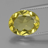 thumb image of 4.1ct Oval Facet Golden Yellow Apatite (ID: 407754)