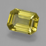 thumb image of 6.4ct Octagon Facet Golden Green Apatite (ID: 407845)