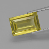 thumb image of 3ct Baguette Facet Golden Green Apatite (ID: 407849)