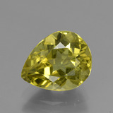 thumb image of 3.7ct Pear Facet Golden Green Apatite (ID: 407913)