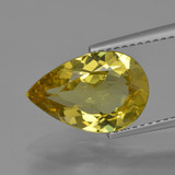 thumb image of 3.3ct Pear Facet Greenish Golden Apatite (ID: 407915)
