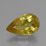 thumb image of 3.7ct Pear Facet Golden Yellow Apatite (ID: 407916)