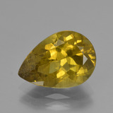 thumb image of 5.6ct Pear Facet Golden Green Apatite (ID: 407921)