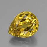 thumb image of 6.7ct Pear Facet Greenish Golden Apatite (ID: 407922)