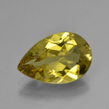 thumb image of 4.6ct Pear Facet Greenish Golden Apatite (ID: 407923)