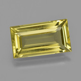 thumb image of 5.1ct Baguette Facet Deep Yellow Apatite (ID: 407938)