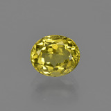 thumb image of 1.3ct Oval Facet Greenish Golden Apatite (ID: 408059)