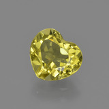 thumb image of 1.6ct Heart Facet Greenish Golden Apatite (ID: 408062)