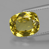 thumb image of 4.1ct Cushion-Cut Golden Yellow Apatite (ID: 408234)