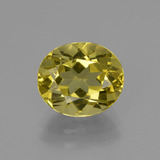 thumb image of 2.9ct Oval Facet Golden Green Apatite (ID: 408327)