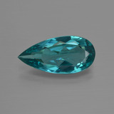 thumb image of 3ct Pear Facet Green Blue Apatite (ID: 412437)
