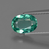 thumb image of 1.1ct Oval Facet Blue Green Apatite (ID: 420328)
