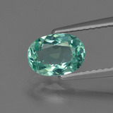 thumb image of 1.2ct Oval Facet Blue Green Apatite (ID: 420586)