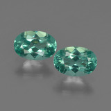 thumb image of 1ct Oval Facet Blue Green Apatite (ID: 422463)