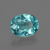 1.10 ct Oval Facet Blue Apatite Gem 7.58 mm x 6.1 mm (Photo B)