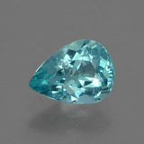 thumb image of 1.1ct Pear Facet Blue Apatite (ID: 424049)