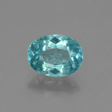thumb image of 1.2ct Oval Facet Blue Apatite (ID: 429695)