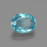 1.60 ct Oval Facet Blue Apatite Gem 8.46 mm x 6.6 mm (Photo B)