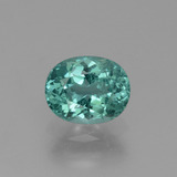 thumb image of 0.9ct Oval Facet Blue Green Apatite (ID: 432422)